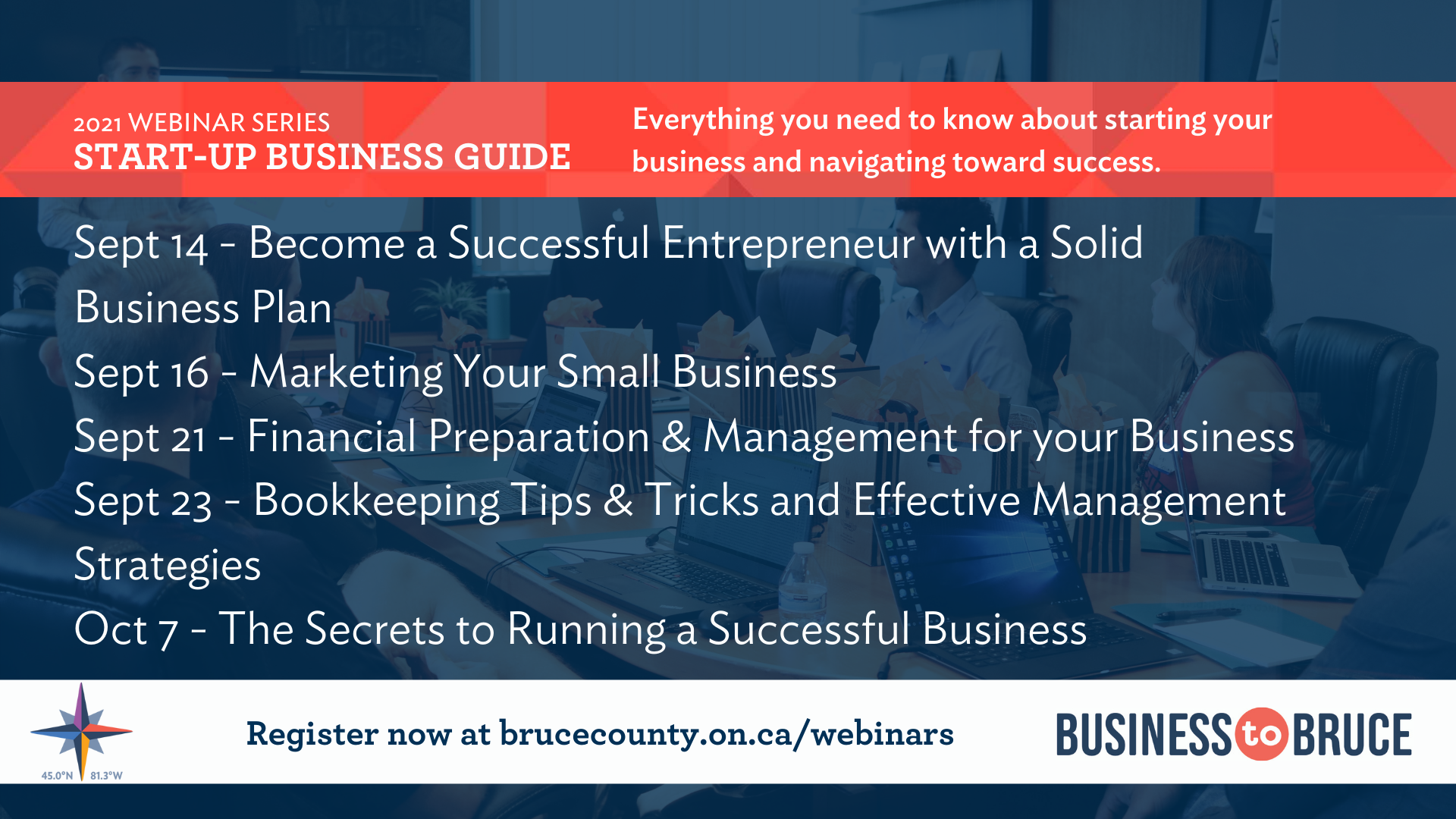 Business to Bruce Poster: The Start-Up Business Guide Series - Everything you need to know about starting your business and navigating toward success.