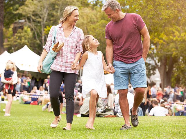 family at a fair