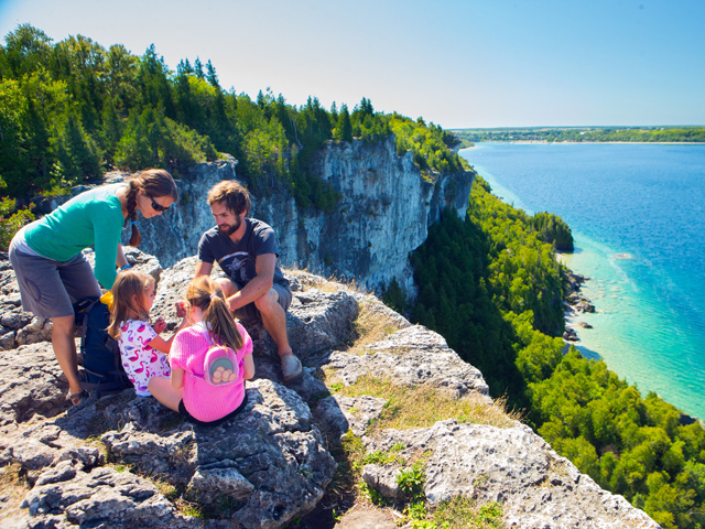 Bruce county cliff