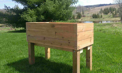 Wooden garden planter box Bruce County