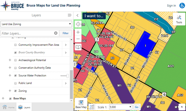 Bruce Maps for Land Use Planning screen capture image